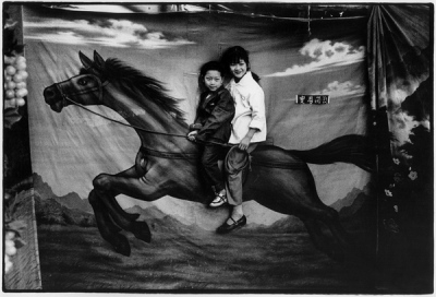 Children pictured with horse