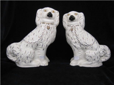 pair of dog figurines